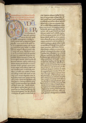 Illuminated Initial, In Gregory The Great's 'Commentary On The Book Of Job' f.1r